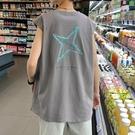 背心夏季男士背心坎肩t恤寬松無袖2021新款純棉潮流運動打底外穿 JUST M