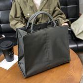 韓版單肩斜挎文件袋氣質時尚商務手拎手提公文包女通勤包學生書袋