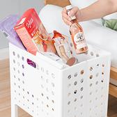 樂嫚妮 多功能可提折疊收納籃/置物籃/洗衣籃-二色白