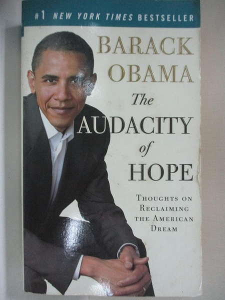 【書寶二手書T1/政治_AMS】The Audacity of Hope_BARACK OBAMA