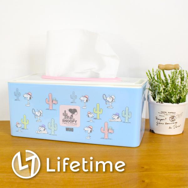 ﹝史努比塑膠面紙盒﹞正版衛生紙盒 面紙套 收納盒 SNOOPY〖LifeTime一生流行館〗B01133
