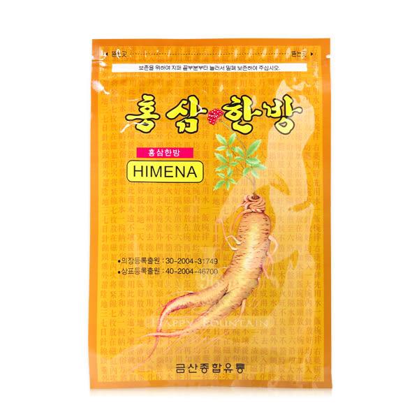 韓國 韓方 紅蔘健康舒緩貼布 20片入