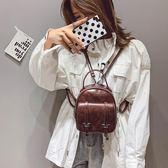mini 後背包包女新款韓版百搭復古簡約軟皮小背包