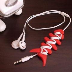彩色魚骨耳機集線器 繞線器-艾發現
