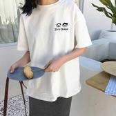 超火短袖t恤女潮人韓版寬鬆學生百搭怪味少女上衣 免運