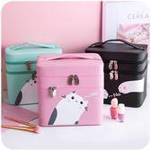 化妝箱大容量多功能簡約便攜可愛少女心韓版手提 LQ6079『小美日記』