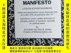 二手書博民逛書店原版英文書《罕見Millennial Manifesto 》by