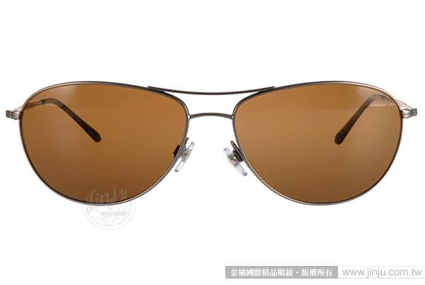 GIORGIO ARMANI 太陽眼鏡 GA6024 300357 (銀) 男仕經典熱銷百搭偏光款 # 金橘眼鏡