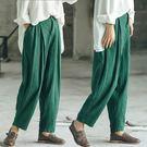 休閒褲-訂製特殊肌理面料長褲草木綠/設計家 K8831