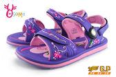 GP涼鞋 女款 花漾系列 磁扣兩穿防水涼鞋 I6748#紫色◆OSOME奧森童鞋