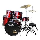 Boston 入門嚴選GPC-54標準爵士鼓組-紅/黑/藍