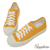 訂製鞋 韓版帆布綁帶餅乾鞋-黃