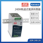 明緯 240W軌道式電源供應器(SDR-240-24)