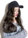 帽子假髮一體女仿真時尚網紅長髮髮帽一體自然潮流大波浪帶長捲髮  Cocoa