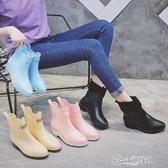 雨靴 夏季果凍雨鞋女韓國可愛時尚款外穿中筒大人防滑水鞋雨靴短筒低筒