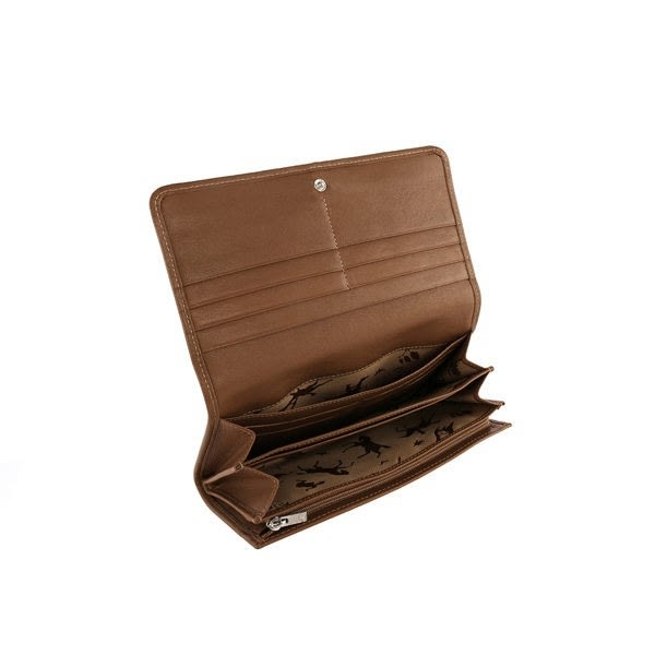 【雪曼國際精品】LONGCHAMP小羊皮對折長夾/駝色─新品現貨