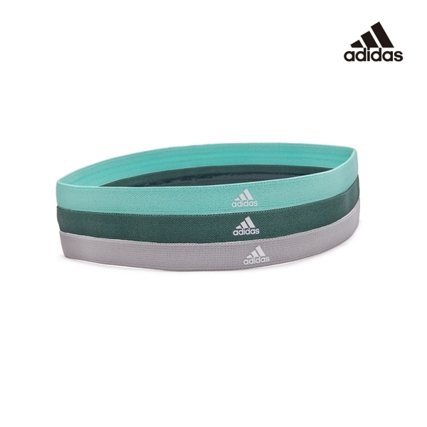 Adidas Yoga - 止滑運動髮帶組(淺灰/薄荷綠/森林綠)