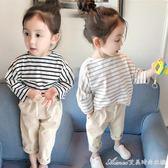 新款女童裝秋裝長袖T恤女寶寶打底衫兒童秋純棉上衣1-2-3歲 艾美時尚衣櫥