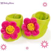 新生兒寶寶鞋襪  澳洲baby bow-紅花花鞋襪(0-6個月)