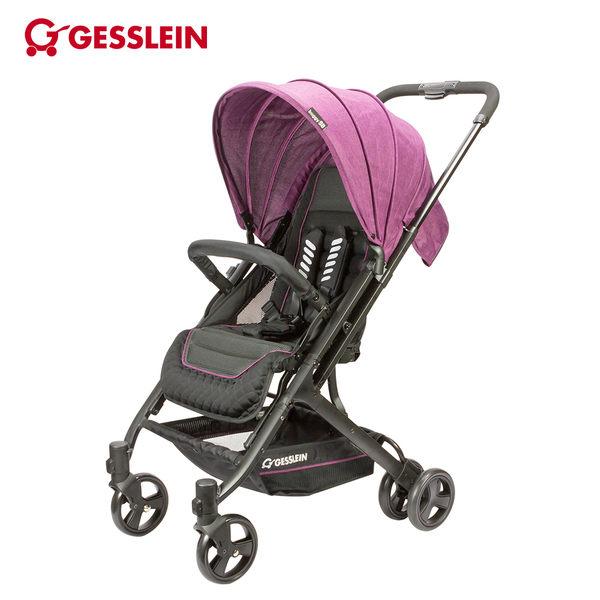 德國GESSLEIN騎士藍-歐風輕休旅嬰兒手推車-珊瑚紫