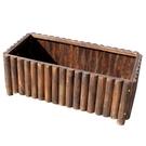 碳化木質花盆長方形實木種植箱...