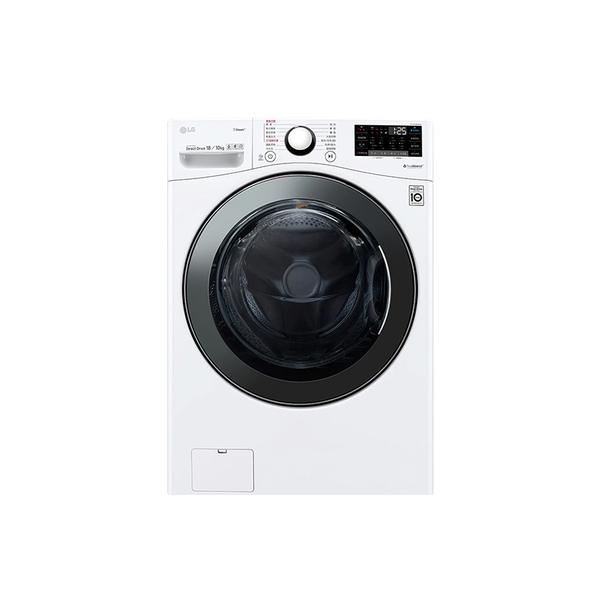 LG樂金 WiFi滾筒洗衣機(蒸洗脫烘) 冰磁白 / 18公斤 WD-S18VBD 時段限定
