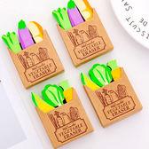 【BlueCat】法式紙袋蔬菜造型橡皮擦 (3入裝)