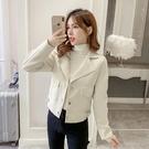 促銷 秋裝年新款韓版寬松百搭時尚夾克上衣直筒寬松西裝領外套女潮
