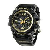CASIO G-SHOCK 帥氣復古數位羅盤飛行員腕錶-黑色 GG-1000GB-1A