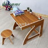 兒童書桌 soerer兒童家具學習作業書桌椅繪畫套裝學生幼兒園客廳寫字桌403 珍妮寶貝