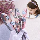 正韓布藝花朵兒童髮箍小女孩髮卡公主小清新可愛防滑髮飾女童頭箍