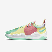 Nike PG 5 EP [CW3146-301] 男 籃球鞋 運動 休閒 緩震 舒適 支撐 貼合 抓地力 黃綠 粉紅