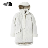 The North Face 女 防水透氣衝鋒長版外套 白NF0A497C11P【GO WILD】