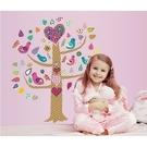 【收藏天地】創意生活*幸福愛心小樹壁貼/ 家飾 居家 裝飾 佈置 環保