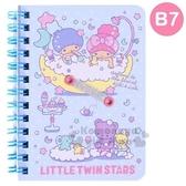 〔小禮堂〕雙子星日製左翻線圈橫線筆記本《B7 淡藍洗澡》記事本手札4901610 14752