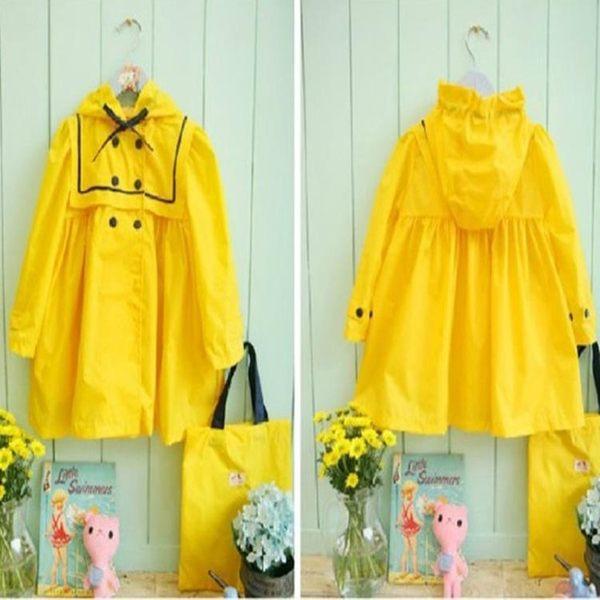 雨衣 - 女童雨衣兒童白雪公主輕便雨具學生小童女孩雨披超萌【韓衣舍】
