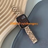 古西里適用蘋果手表帶細不銹鋼iwatch6/5/4/3/21個性潮金屬