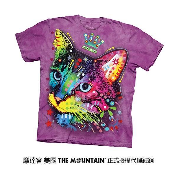 【摩達客】(預購)(男童/女童裝)美國進口The Mountain 彩繪皇冠小貓 純棉環保短袖T恤(10415045207a)