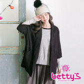 betty's貝蒂思 七分袖西裝大衣(黑色)