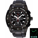 SEIKO黑紅三眼錶SNAD49P1 NES65