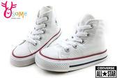 All STAR★Converse帆布鞋 小童鞋 基本款高筒帆布鞋G9845#白◆OSOME奧森童鞋/小朋友