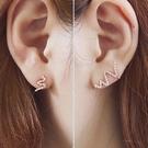 【NiNi Me】夾式耳環 甜美波浪流線...