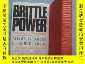 二手書博民逛書店英文原版罕見精裝 國家能源安全戰略 Brittle Power: Energy Strategy for Nati