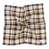 Calvin Klein 交錯格紋純綿帕巾(黃藍色)989091-261