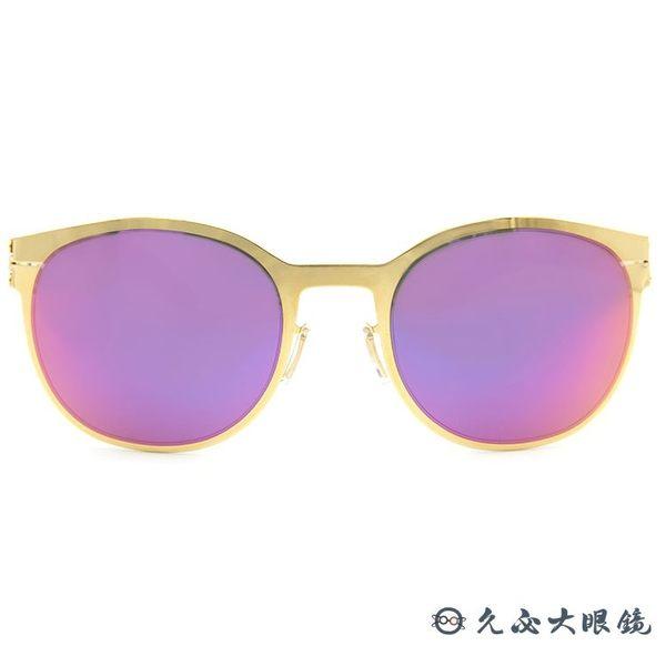 ic! berlin 太陽眼鏡 BUS 131 (金) 貓眼 水銀 薄鋼 墨鏡 久必大眼鏡