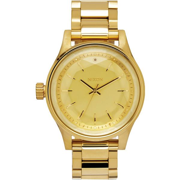 NIXON  FACET38 閃爍六芒星經典時尚腕錶-金
