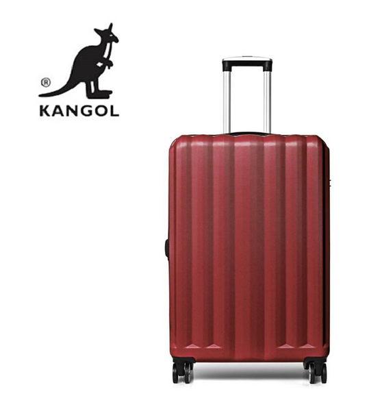 KANGOL- 英國時尚 百搭經典拉鍊可擴充 旅行箱/行李箱-28吋 紅