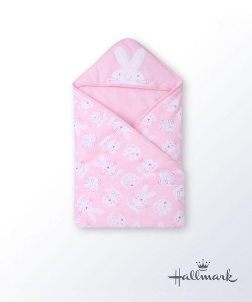 Hallmark Babies小兔子純棉加厚三角帽包巾/毯子 HG3-B01-A6-AG-MR