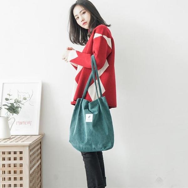 手提包側背帆布包女手提斜背包ins文藝小清新日韓版i系學生大容量購物袋 非凡小鋪