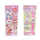 卡裝變裝手錶(單入不挑款) Hello Kitty 美樂蒂 電子錶  正版 兒童手錶玩具 (購潮8)